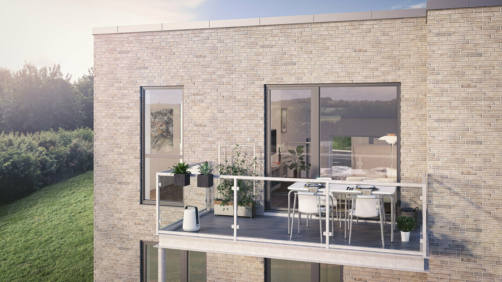 To-plans bolig terrasse